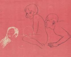 "Toshio Saeki Irogarami IV 16.25""  x 21.5"" Letterpress print.  Signed & stamped. Edition of 30. 1972"
