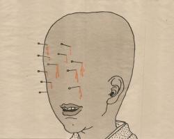 "Toshio Saeki Maboroshimakura II 16.25""  x 21.5"" Letterpress print.  Signed & stamped. Edition of 30. 1972"