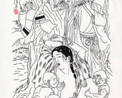 Toshio Saeki Yaetsubue 11.75 x 17 in. Ink on paper, vellum 1986