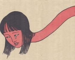 "Toshio Saeki Yamibaba II 16.25""  x 21.5"" Letterpress print  Signed & stamped. Edition of 30.1972"