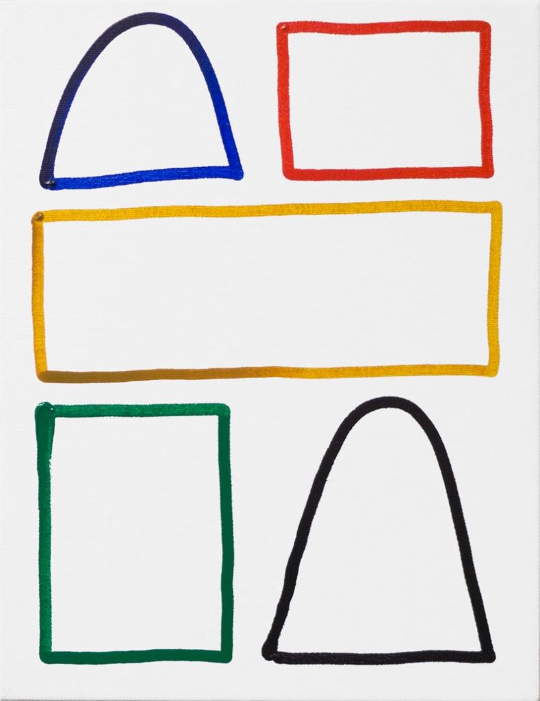 Matthew Feyld  Untitled, 2014 Acrylic on canvas. 11x14 in.
