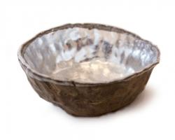 Paul WackersTime, 2014Stoneware, glaze, aluminum leaf.7 x 7 x 3 in.