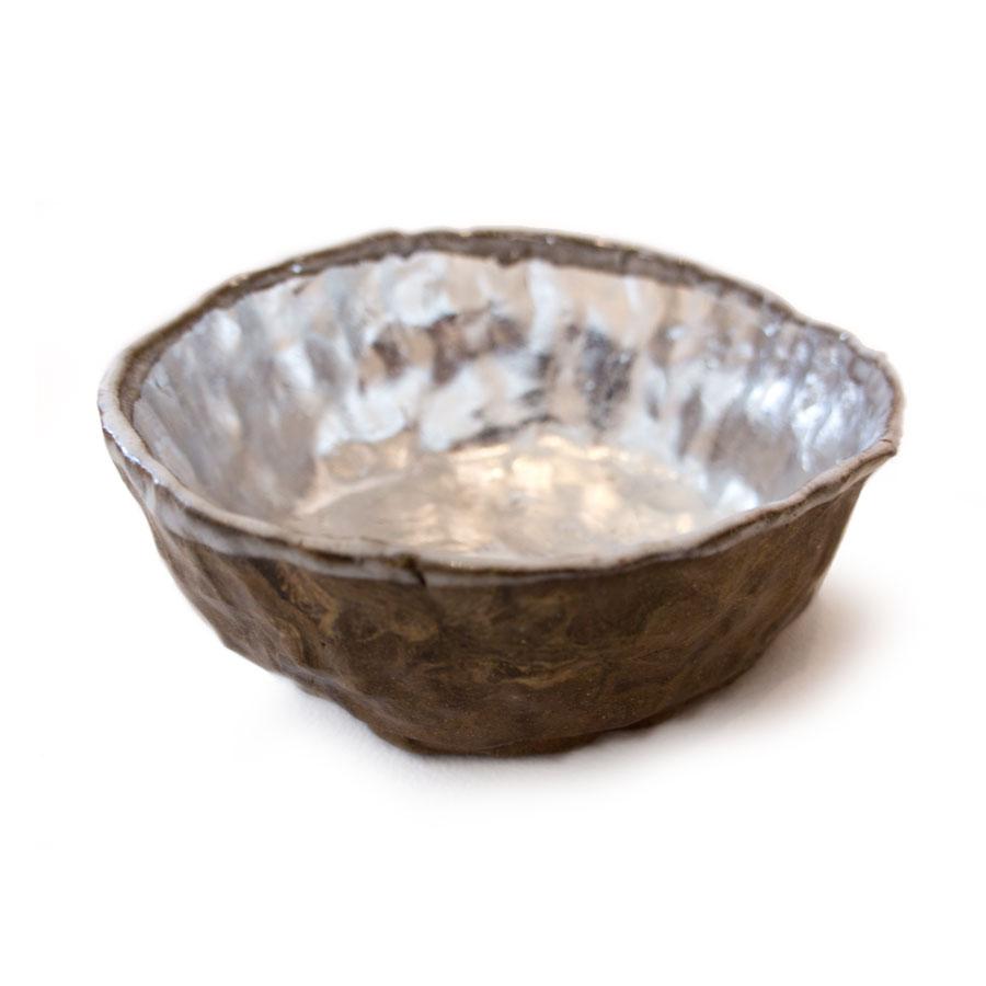 Paul Wackers Time, 2014 Stoneware, glaze, aluminum leaf.7 x 7 x 3 in.