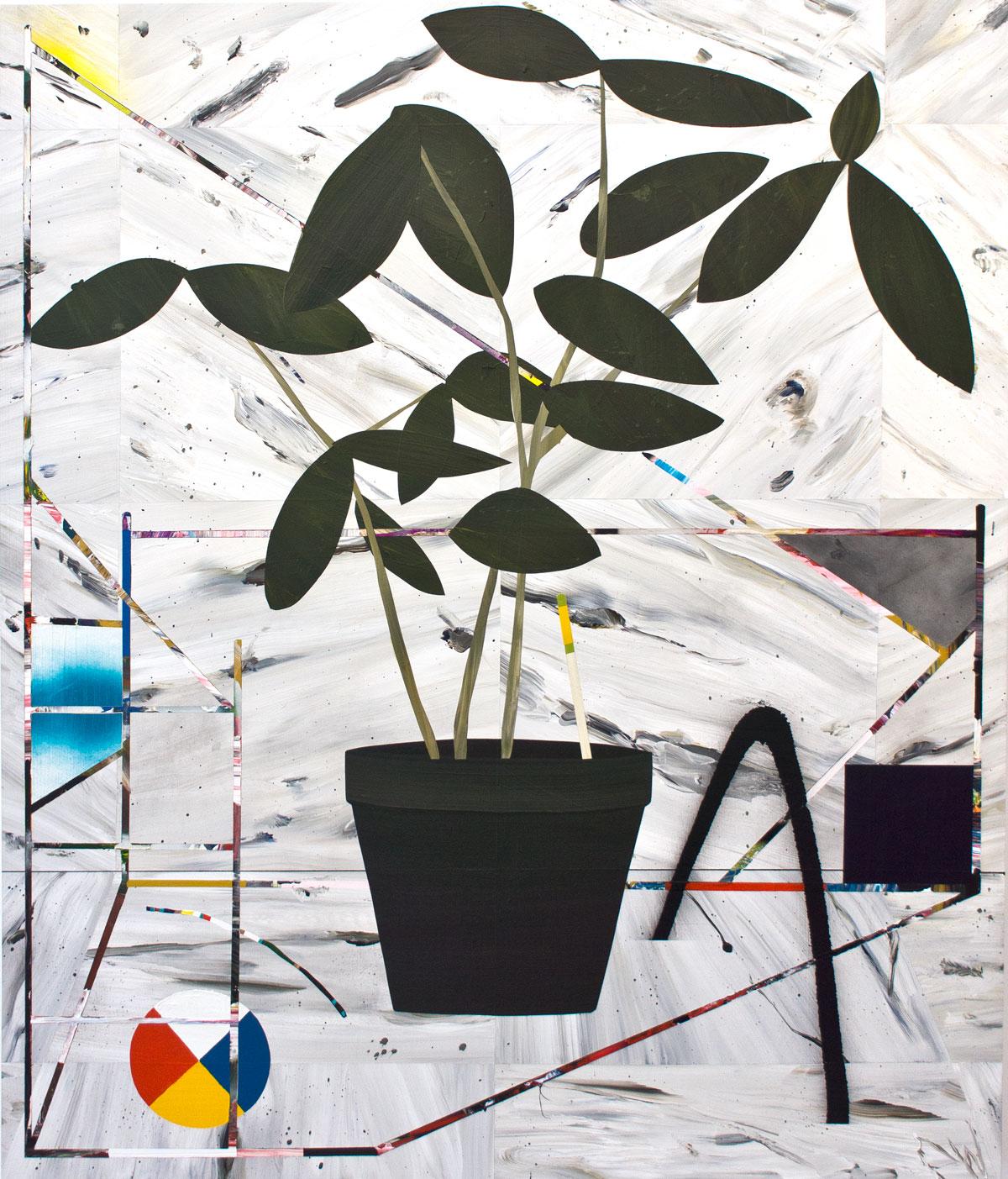 Paul Wackers  Untitled , 2014 Acrylic on board. 48 x 40  in. $8500