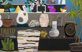 Paul Wackers Watchers, 2014 Acrylic on board. 48 x 60 in.