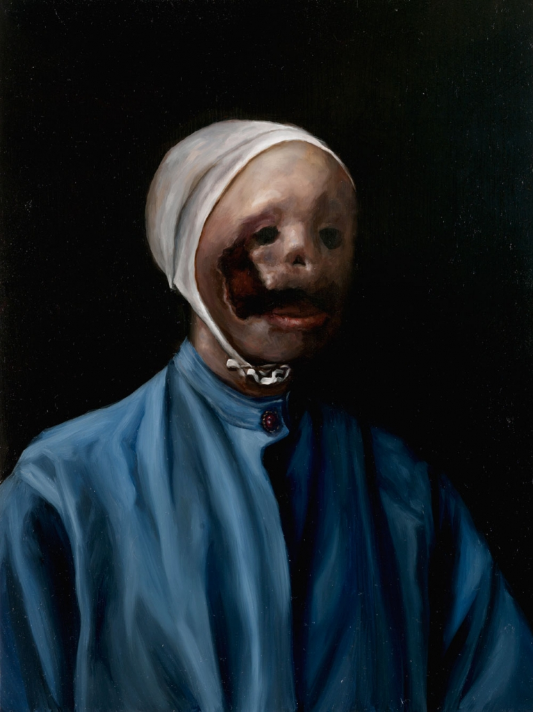 Lauchie Reid Het Meisje Zonder Parel , 2014 Oil on birch panel. 9 x 12 in.
