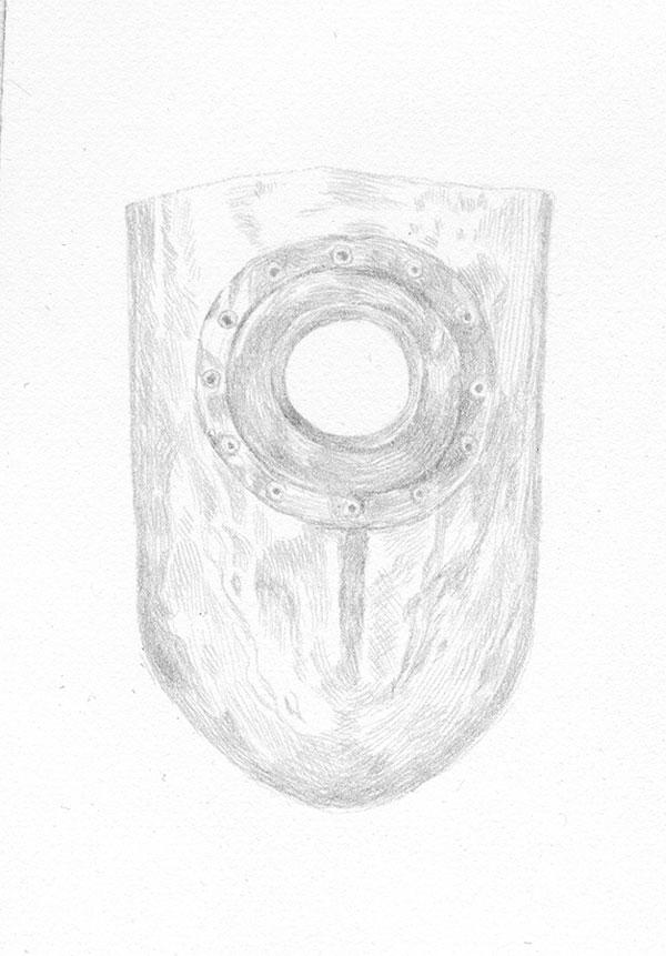 Lauchie Reid Portrait of an Eye, 2014 Silverpoint on Paper. 2 x 3 in.