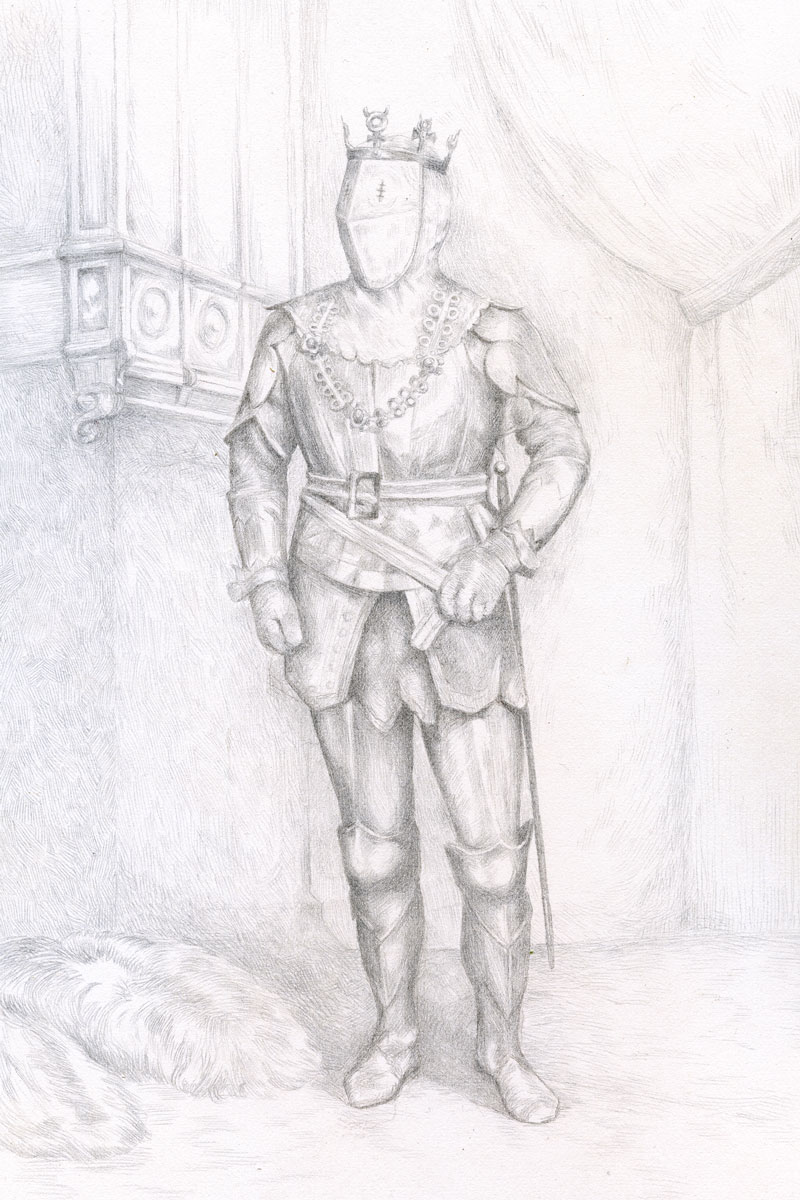 Lauchie Reid Portrait of a King, 2014 Silverpoint on Paper. 6 x 9 in.