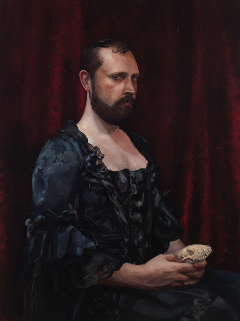 Lauchie Reid Self Portrait as a Much More Interesting Man , 2014 Oil on birch panel. 18 x 24 in.