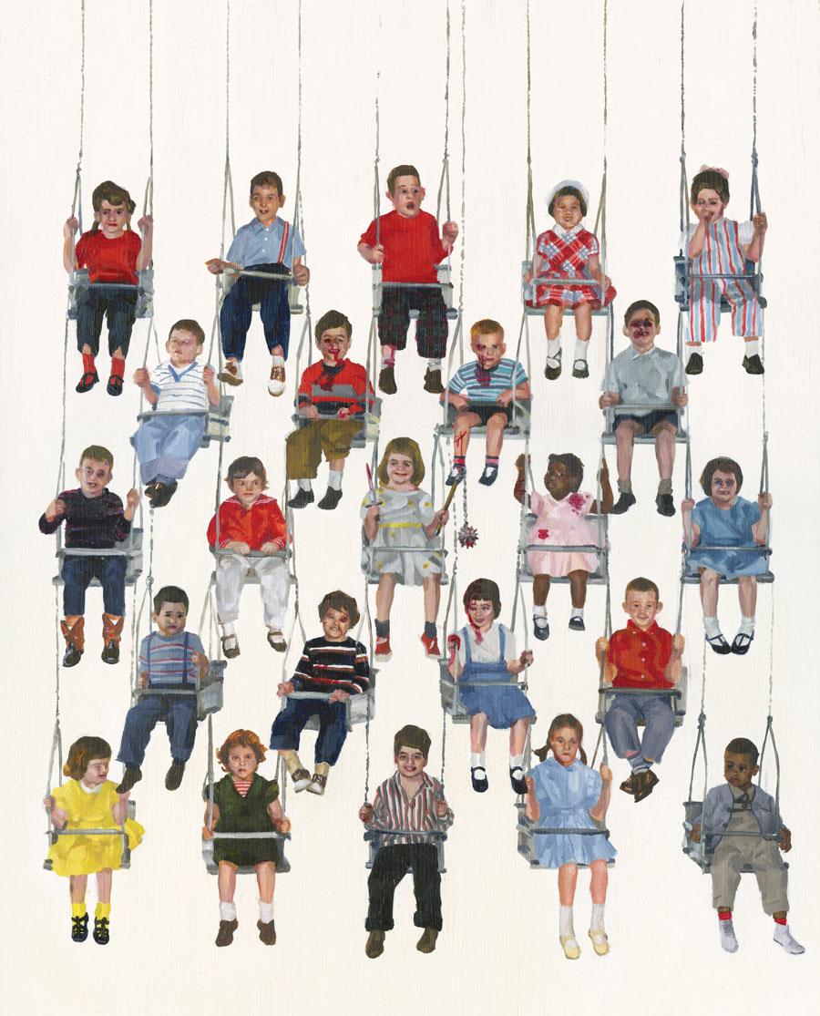 Team MachoSwing Kids, 2008Acrylic on board.12 x 18 in. $1750