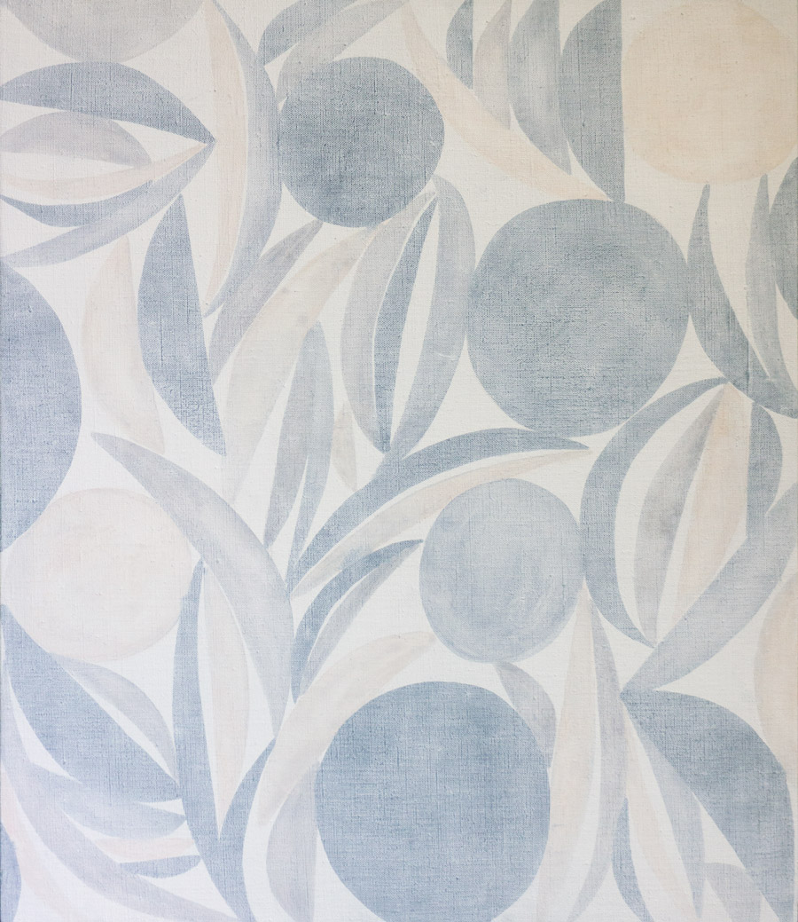Hanna HurSOS,  2014Watercolour, oil on linen. 20 x 24 in.