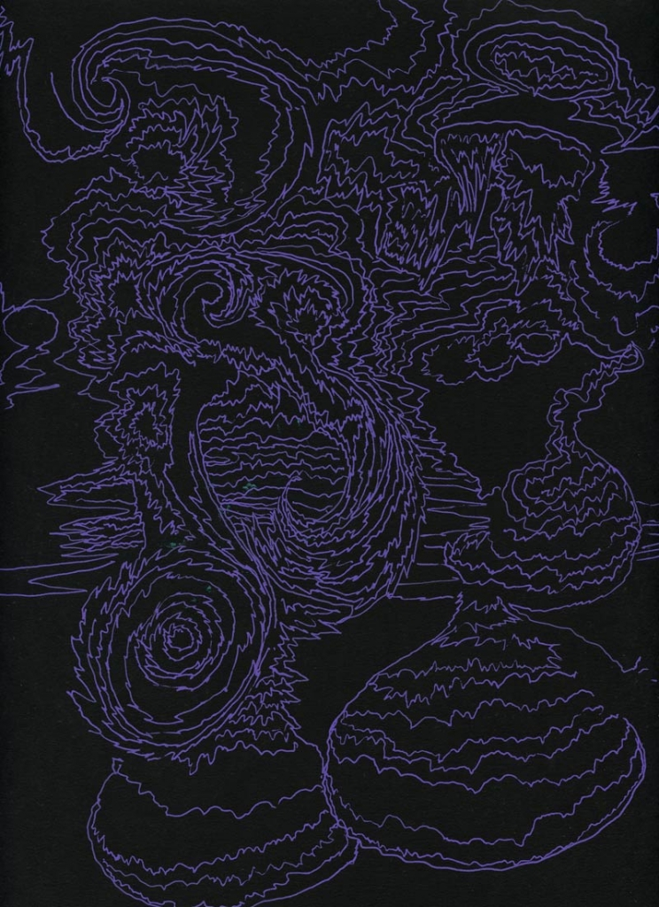 Eli LangerUntitled, 2014Gel pen on paper. 10 x 13 in. framed