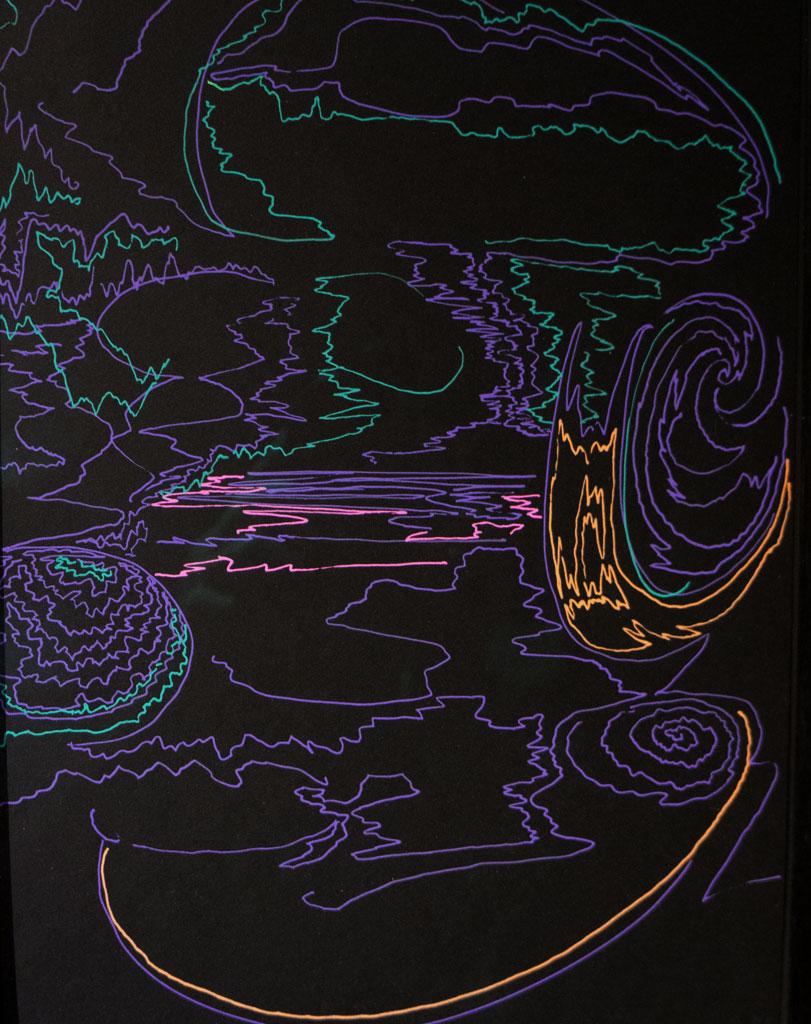 Eli LangerUntitled,  2014Gel pen on paper. 10 x 13 in. framed