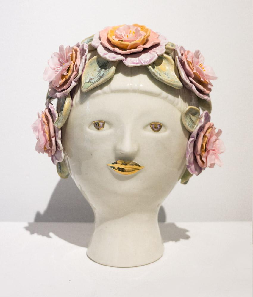 Julie Moon Flower Bust,  2012 Porcelain, 8 x10 in.