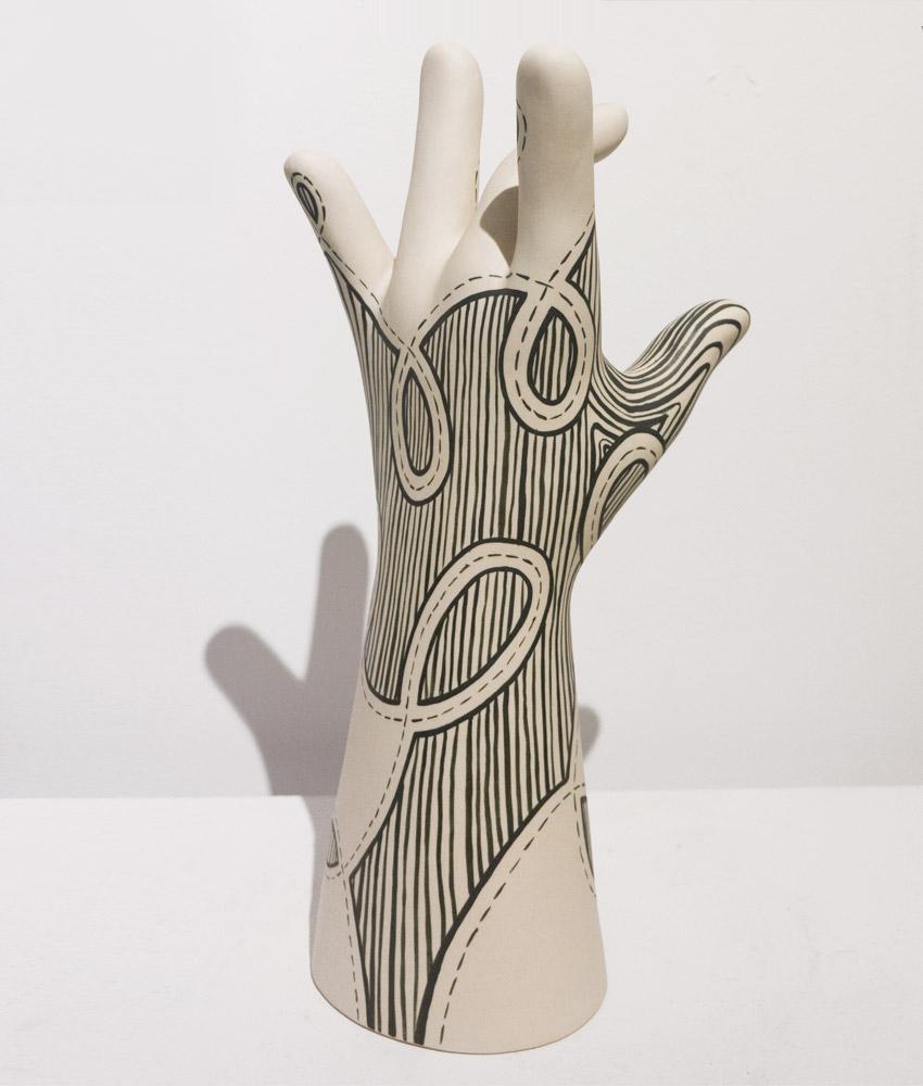 Julie MoonHand (Loops), 2012Porcelain, 6 x 12 in.
