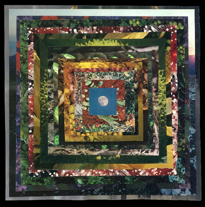 Maggie GroatAll Things Under Influence of The Moon II,  2014Collage on paper. 17 x 17 in.Courtesy ESP