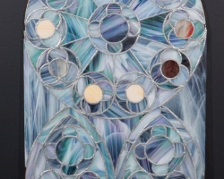 Rebecca Fin SimonettiElise,  201428 x 14 in. Stained glass. Courtesy of LE Gallery