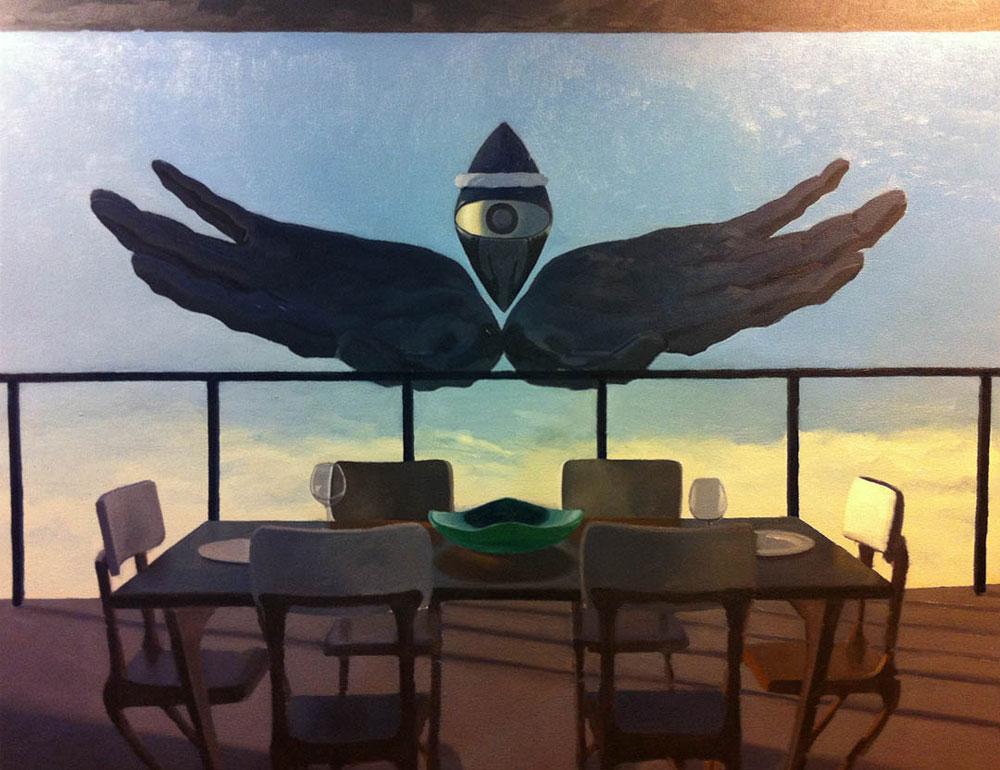 Nicholas Aoki Basilisk, 2014 Oil on panel 16 x 20 in.
