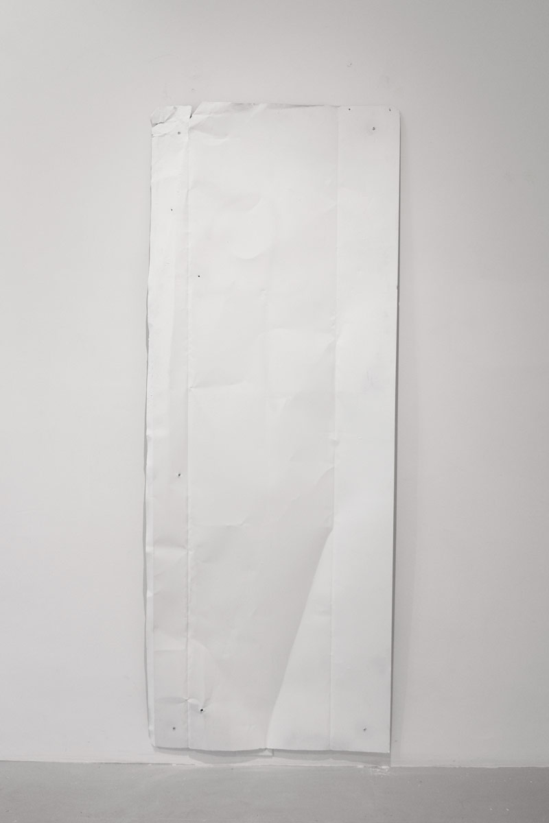 Noel Middleton Material Appendix IV, 2014   Steel, enamel paint. 76 x 28 in.