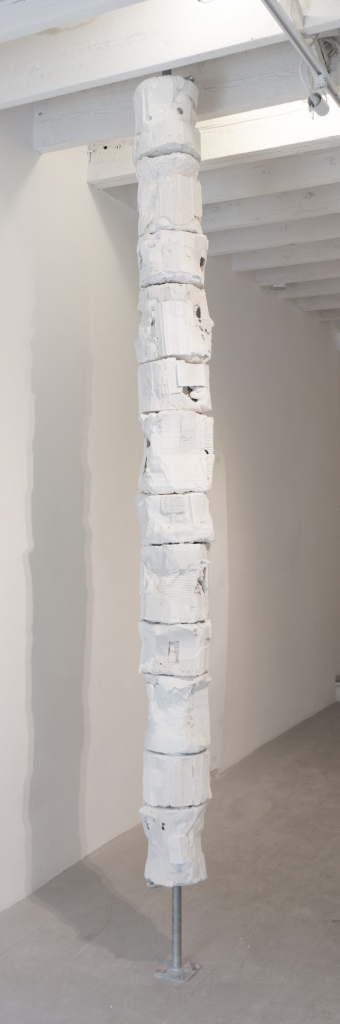Noel Middleton Recorded Order of Operations , 2014    Steel, fabric, wood, setting compounds. Variable dimensions.