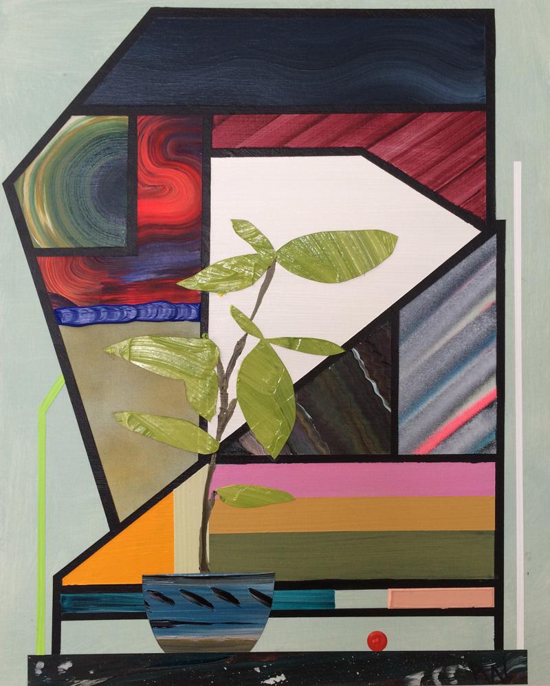 Paul Wackers Breaking Again, 2015 Acrylic on board.16 x 20 in.