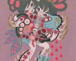 Junko MizunoPomegranate, 2015Acrylic on canvas 16 x 20 in.