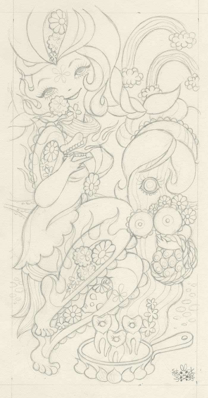 Junko MizunoBacon, 2015Graphite on paper 9 x 16 in.