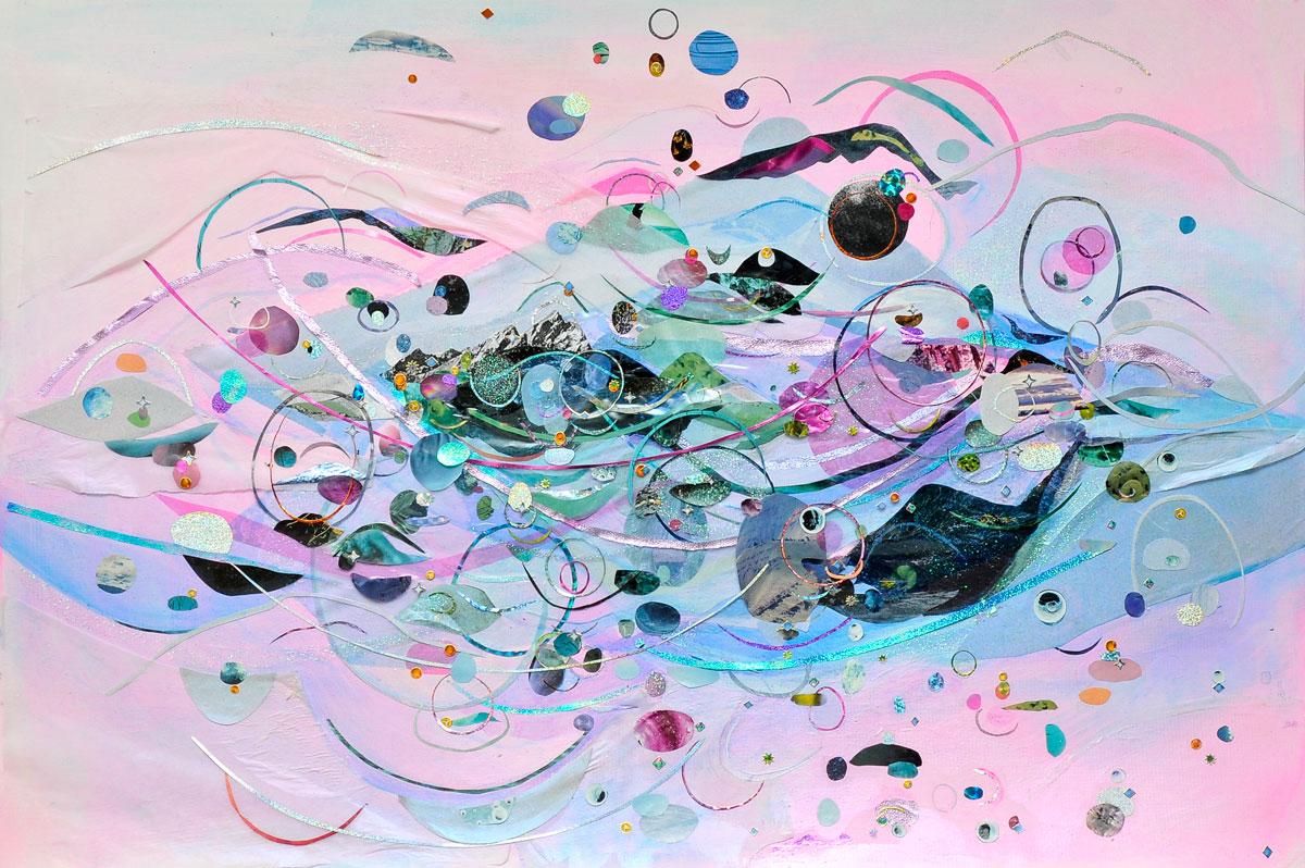 Diana Vandermeulen Liquid Porches Collage on paper. 30 x 40in. 2012