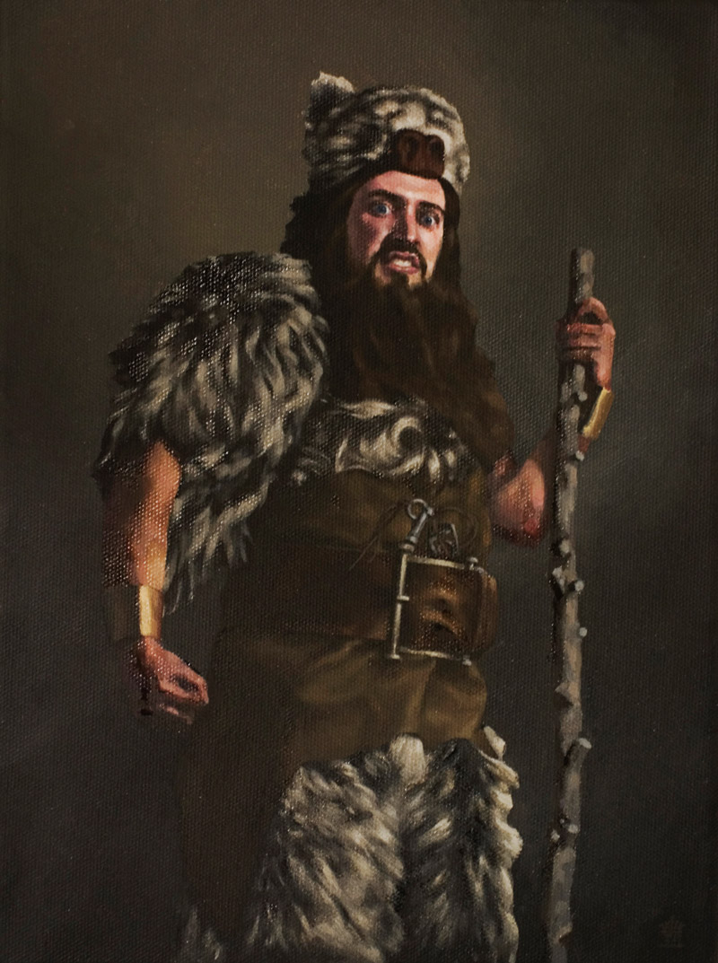Stephen Appleby-BarrLauchie Reid, Barbarian, 200810 x 14 in. unframed 14 x 18 in. framed.Oil on Linen.