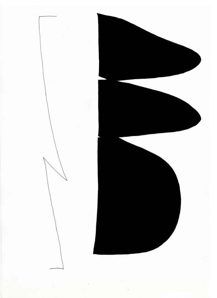 Eunice LukBetween a line and a shape, 201511.75 x 15.75 in. Ink on paper.
