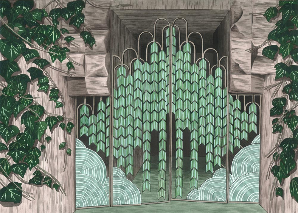 Luke PainterEntrance to John Sowden's House, 201414 x 11 in. Ink on paper.