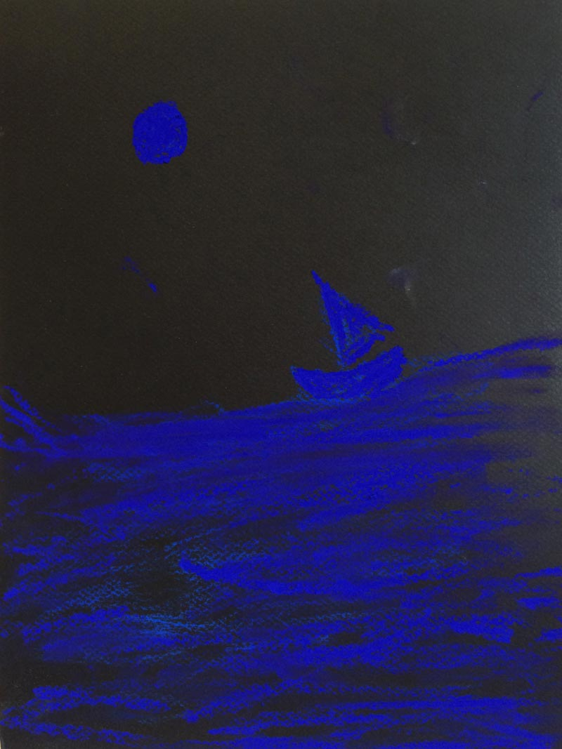 Josh ThorpeBlue Sea #2, 20159 x 12 in. Soft pastel on paper.