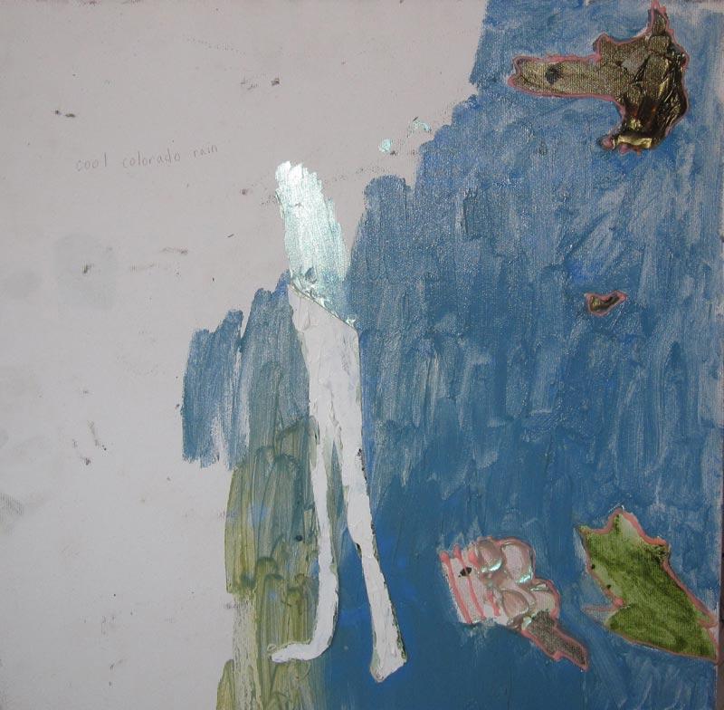 Lisa DiQuinzioRabbit Blues, 201516 x 16 in. Mixed media on canvas.