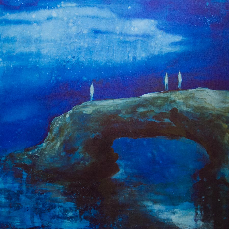 Michelle BladeMoonlight, 201520 x 20 in. unframed. Ink on canvas.