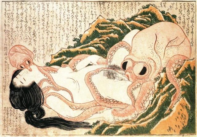 Katsushika HokusaiThe Dream of the Fisherman's Wife, 1814