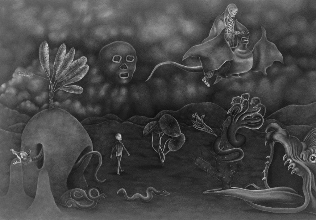 Adrienne KammererA Fevered Undertaking, 2015Graphite on paper.16.25 x 11.5 in. unframed, 23 x 19 in. framed