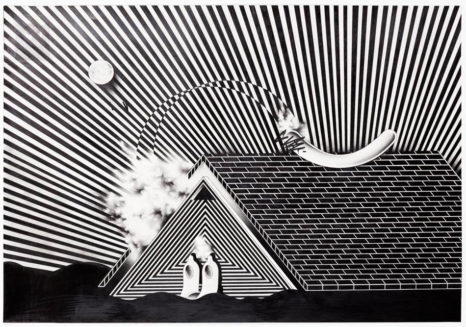 Ryan Travis ChristianRoof Off, 2014Graphite on paper. 29 x 40 in.