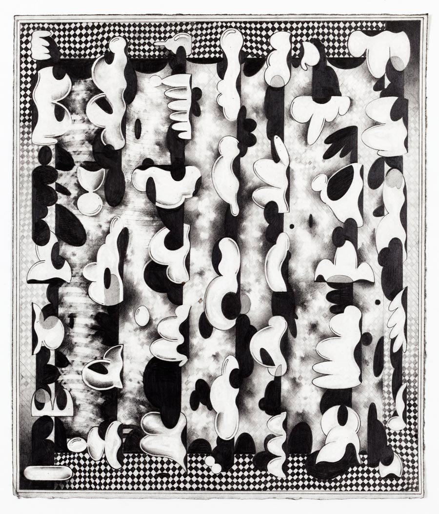 Ryan Travis ChristianWiggle Room, 2014Graphite on paper. 17.75 x 15.75 in. unframed