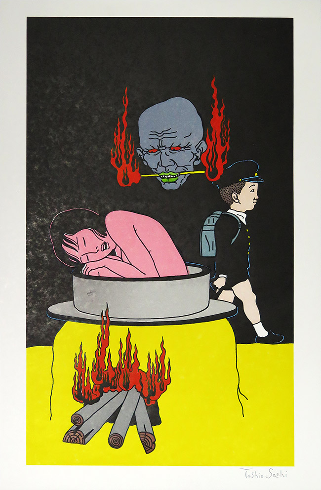 Toshio SaekiUntitled, 2013Signed letterpress. Edition of 25. 15 x 23 in.