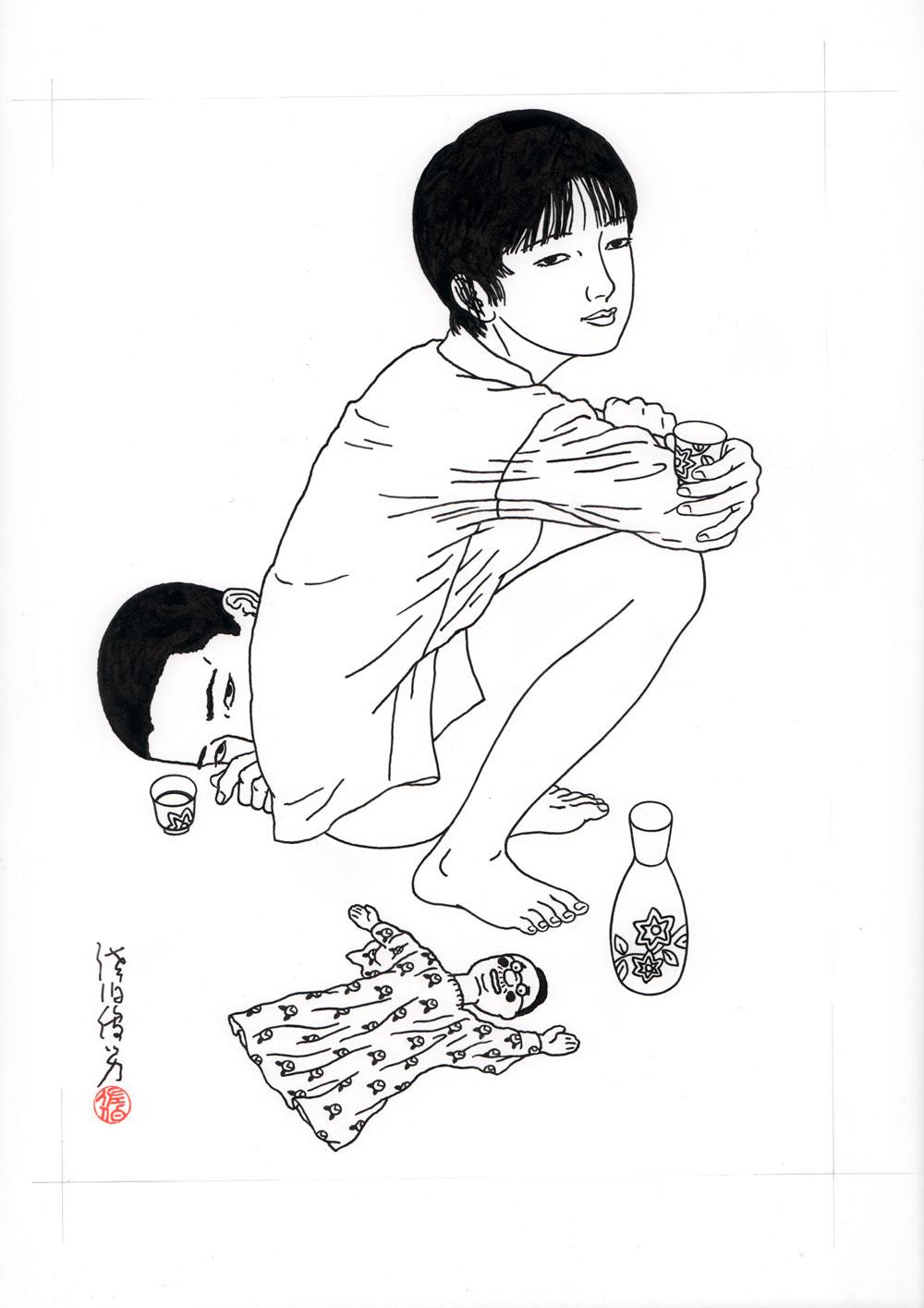 Toshio SaekiZanjou, 2015Ink on paper.12.5 x 17.5 in. unframed