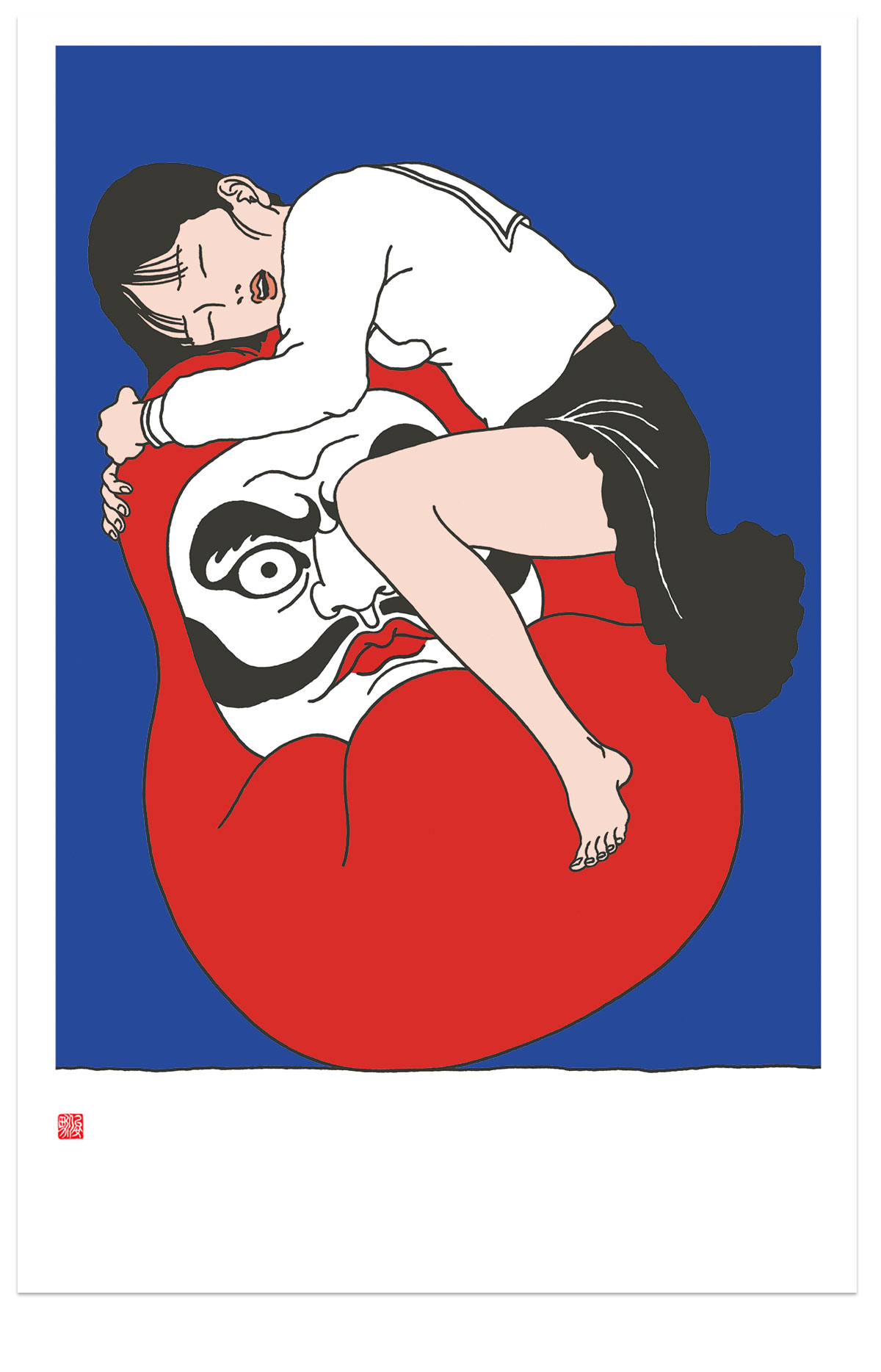 Toshio Saeki Ureshidaruma , 2016Silkscreen print. Stamped edition of 100.Inc. S/N Certificate. 24 x 34 in. unframed